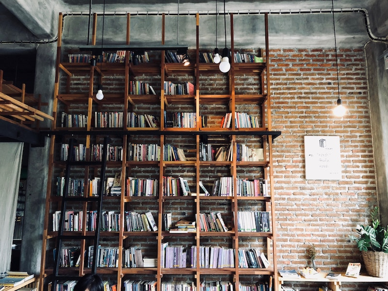 (Image Credit: Joao Tzanno on Unsplash) & A Step-By-Step Guide To Organising Your Personal Library