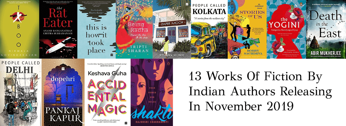 fiction by Indian authors November 2019