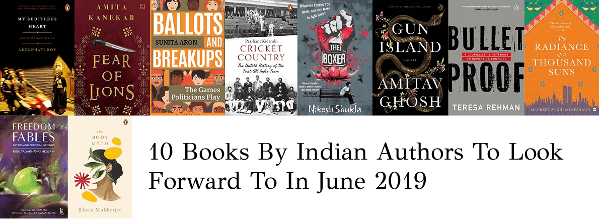 books by Indian authors June 2019