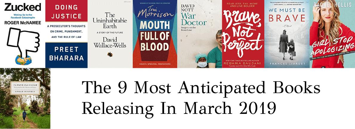anticipated books March 2019