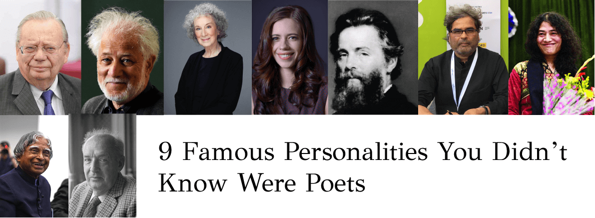 famous personalities you didn't know were poets