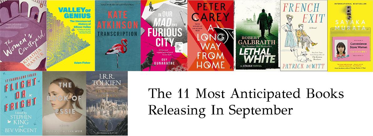 anticipated books September 2018